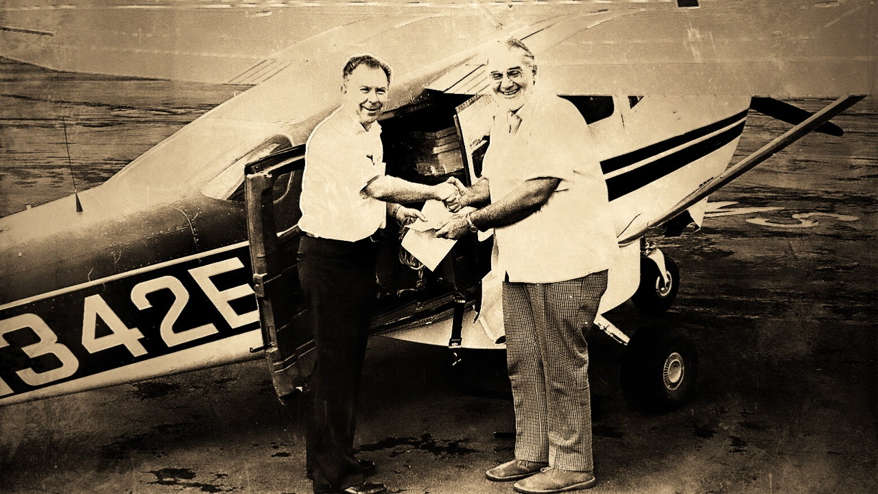 Dr. Ray Knighton with Plane
